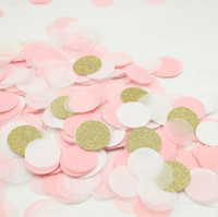 Wholesale Gold Table Confetti - Wholesale-10g Gold glitter, light pink white , paper confetti wedding table decor