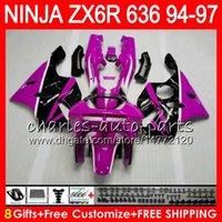 1996 kawasaki ninja zx6r großhandel-8Geschenke 23 Farben Für KAWASAKI NINJA ZX6R 94 95 96 97 600CC ZX-6R OBEN Rosenzapfen 33NO73 ZX636 ZX 636 ZX 6R ZX600 1994 1995 1996 1997 Verkleidungssatz