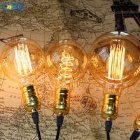 Wholesale Vintage Light Bulb Holder - Wholesale Price Vintage G80 G95 G125 Edison Incandiscent Light Bulbs 110-240V E27 Lamp Holder Indoor Light Source Free Shipping