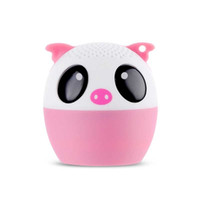 Wholesale pocket speakers - 30pcs Mini Wireless Bluetooth Speaker Cute Animal Cartoon Pig Dog Bear Tiger Panda Pocket Speaker Special Gift For Friend Kid Child