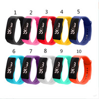 Wholesale Dhl Free Shipping Bracelet - 2017 Outdoor relogio masculino Mens Womens Rubber LED Watch Date Sports Bracelet Digital Wrist Watch free shipping DHL