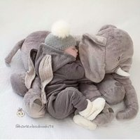 Wholesale Soft Stuffed Elephant Toy - HOT SALE Baby Children Long Nose Elephant Doll Pillow Soft Plush Stuff Toys Lumbar Pillow Children's plush toy sleeping pillow
