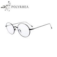 Wholesale Grade Spectacle Frame - Fashion Luxury Grade Eyewear Frames Vintage Round Glasses Female Brand Designer Spectacle Plain Glasses With Box And Case