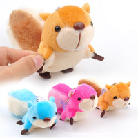 Cute Lovely Animal Large tail Squirrel Stuffed Doll Plush Toys cartoon Keychain Bag Ornamentos decorações Christmas Birthday Gifts