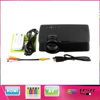 Wholesale Music Home Theater - Wholesale- Black!GP-9 Portable mini Projector LED 1000 Lumens Home Theater Support USB HDMI AV SD for Cinema Game Movie Music tv Proyector