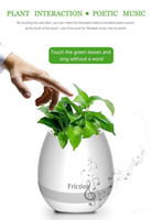 Wholesale Decorative Plastic Buttons - Wholesale mini smart flowerpot sensor Bluetooth speaker Flower pot Plastic Green plant pots decorative Macetas pot Playing Smart Music