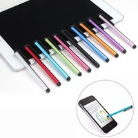 Wholesale Stylus Pen Bags - Capacitive Touch Screen Stylus Pen For iPhone 7 6 6s plus iPad 5 iPod Touch Universal Phone Tablet PC Opp Bag