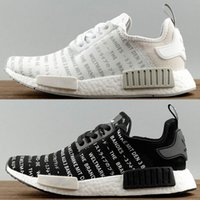 Wholesale Japanese Laced Shoes - new arrival NMD_R1 Japanese white S79518 balck S79519 sports running shoes Original quality men's NMD R1 ultra boost sneaker