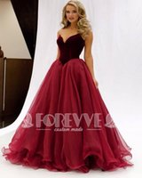Wholesale Black Apple Clothing - New Real Photo Burgundy Evening Dresses 2017 Velvet Sweetheart Floor-Length Prom Party Gowns Cheap Clothes China Special Occasion Dresses
