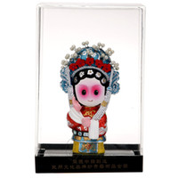 Wholesale People Cartoon Drawings - The Q version of the cartoon opera dolls Chinese traditional crafts sculpture sculpture business gifts gifts to go abroad