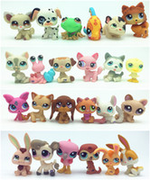 Les Plus Petits Chiens D'animaux De Compagnie Pas Cher-10pcs / lot Random Littlest Pet Shop Q LPS-Littlest Shop Series Pet Doll Animal Cartoon Cat Chien Figurines d'action Collection Jouets Livraison gratuite