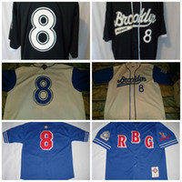 Wholesale Giant Apparel - Men's Brooklyn Royal Giants Jersey Official Apparel Negro League baseball Jerseys 100% Stich Free Shipping S-3XL Mix Order