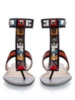 strass nieten großhandel-Nieten Strass Sandalen Frauen 2017 Europäischen Amerikanischen stil Flache Ferse Gladiator Frau Shiny Alias Mujer Größe 42