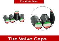 Wholesale Sticker For Tire - Alloy ITALY Flag Car Wheel Airtight Tyre Tire Stem Air Valve Caps For Fiat Iveco Lamborghini Alfa Romeo DeTomaso Car Stickers