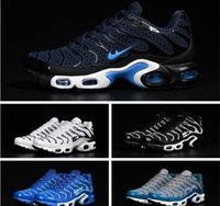Wholesale Tan For Cheap - Cheap Hight Quality Brand New Air Sports TN Running Shoes For Men Black White Mens jogging Tennis Shoes Grey Man Runner Training Sneakers