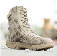 Wholesale Tactical Climbing Boots - Military Tactical Combat Waterproof Boots Army Men women Ankle Desert Boots Autumn Spring Travel Hiking Outdoor Climbing Shoes Unisex