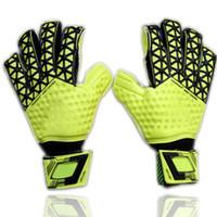 Wholesale Men S Winter Leather - 2016 New man soccer gloves finger protection Professional goalkeeper gloves ADS Goal keeper Gloves Soccer Goalie Soccer