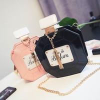 Wholesale Hollow Perfume Bottles - 2016 new type perfume bottle bag chain single shoulder bag