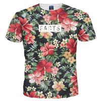 camisetas de secado rápido al por mayor-Camisetas 3D Camiseta estampada hermosa de las flores para los hombres / las mujeres Camisetas verano Seca rápida 3d Camisetas Tops Moda