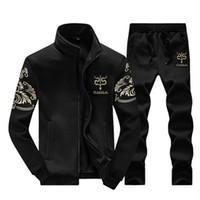 Wholesale cool sports hoodies sweatshirts - Tracksuits Men Leisure Sport Suit Black Winter Men's Sportswear Brand Hoodies Hip Hop Jogger Set Cool Sweatshirt Sudaderas Hombre M-4XL