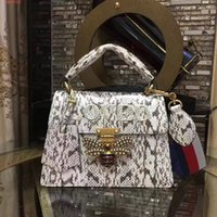 Wholesale Elegant Luxury Embroidery - The new top high-end customized luxury snake skin style elegant and high-quality Set auger women's handbag