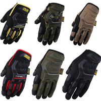 Wholesale Gloves For Wholesale Yellow - New Mechanix Wear M-Pact Gloves for Military Tactical Army Combat Riding Motorcycle Bike Bicycle Motorcross Cycling Gloves hightquality