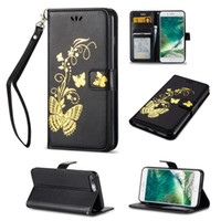 impresión de píxeles al por mayor-Mariposa que broncea la impresión de cuero de moda billetera funda con bolsillo para tarjeta de bolsillo para LG Q8 LS770 LS775 LG5X G3 G5 G5 K5 K7 K8 K10 K10 Pixel XL2