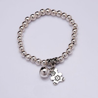 Wholesale Bell Bear - NEW Bear Bell Charm Bracelet Silver plated beads Bracelet 2016 Women Fashion jewelry