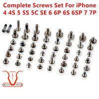 Wholesale 4s Bottom Screw - For iPhone 4 4S 5 5s 5c SE 6 6plus 6s 6S PLUS 7 7 Plus Full Screw With Dock Bottom Screws Sets