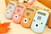 Wholesale Mini Calculator Gift - New Cute bear mini calculator Keychain DIY Intelligence Key Chain Ring Boys&Girls Birthday Key Dolls Gifts Key Holder