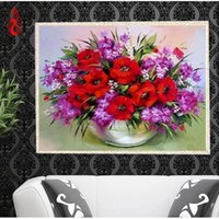 YGS-363 DIY 5D Diamond Embroide Flores bonitas Round Diamond Painting Cross Stitch Kits Diamond Mosaic Home Decoration