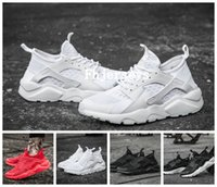 Wholesale Breathe Design - 2016 New Design Air Huarache 4 All Red Mesh Huraches Running Shoes Ultra Breathe Men And Women Huaraches Sports Sneakers Free Shipping