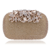 Wholesale Crystal Flower Clutch Purse - 2017 Hot selling Both Side Diamond Flower Crystal Evening Bag Clutch Bags Upscale Styling Day Clutches Lady Wedding Purse