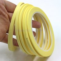Wholesale Apparel Tape - Wholesale- 2016 Yellow Crepe Paper Fine Line Masking Tape Good For Finger Nail Polish Painting Decoration Apparel Design Labeled Line