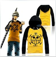 Wholesale Trafalgar Law Top - Wholesale-Anime Cosplay One Piece Costume Trafalgar Law Hoodies Masquerade Clothes Top for Man Women Long Sleeve Plus Size