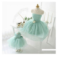 Wholesale Special Occasions Children - Mother And Daughter Clothes 2016 Sparkly Beaded Mother And Daughter Pink Special Occasion Prom Party Dresses Children Princess Dress Skirt