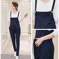 Wholesale Pregnant Women Pants Maternity Trousers - Gravida Jumpsuit Maternity 100% cotton Pants Clothes For Pregnant Women Overalls Roupa Gestante Trousers Autumn Winter Pregnancy