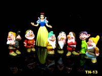 Wholesale Finished House - kids 8pcs set Princess Snow White and the Seven Dwarfs Action Figures Mini figurines doll house miniature model cake topper decor Toys Gift