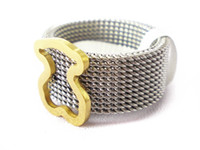 Wholesale Twisted Steel Jewelry - spain Bear Ring Stainless Steel harm Mesh twist hoop style most popular high quality original edition for ladies brand jewelry