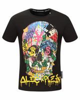 Wholesale German T Shirts - Original German Brand PP t shirts for men Fashion Short Sleeve 100% Cotton poloshirt shirt Skull hip pop Designer mens t shirts #8839