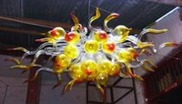 CE blow glass light - Dale Chihuly Style Mini Crystal Chandelier Hand Blown Art Glass Chandelier with LED Bubble Light