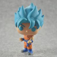 Wholesale Q Kid - New hot sale Q version FUNKO Pop new Dragon Ball Z blue Super Saint Seiya Goku Son Gokou Boxed PVC Collection 10CM