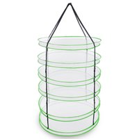 3FT 6 strati pieghevole Mesh Hydroponic Drying rack w / Carry Bag Herb Dry Net