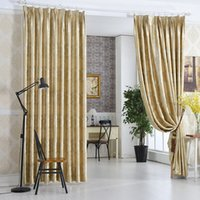 Wholesale Modern Curtains For Living Room - Modern window Blackout Curtain for Living Room Bedroom fiber brown Jacquard flannel 1pcs wholesale fabric price free ship