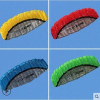 Wholesale High Quality m Dual Line Colors Parafoil Parachute Sports Beach Kite Easy to Fly