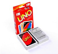 Wholesale Paper Puzzle Games - Stock ready 50 Sets UNO poker card standard edition family fun entertainment board game Kids funny Puzzle game By DHL