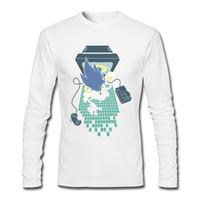 спортивные игры для мальчика оптовых-Осень и зима стиль мужчины футболки game boy с длинным рукавом футболки удобные мужские спортивные рубашки чистый хлопок 7 дней до игры более.