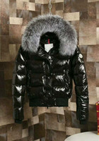 Wholesale Men Leather Hooded Jacket Coat - ME3 Luxury Brand Boys girls waterproof real raccoon fur collar jacket outwear winter french warm snow suit coat anorak children parka 002