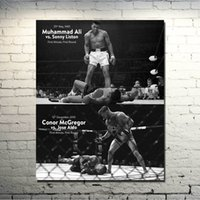 Wholesale Muhammad Ali CONOR McGREGOR UFC MMA Motivational art silk Poster Home Wall Poster Decor