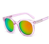 Wholesale Pc Restore - The new arrow sunglasses Women to restore ancient ways rivet round glasses Han edition transparent dazzle colour shades